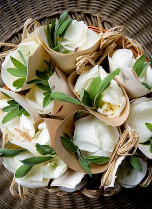Wedding italy flowers decor decorative rice paper cones of rose petals or rice to throw from 15 per cone mightylinksfo
